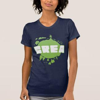 Logotipo do Crea - tshirt do marinho das mulheres