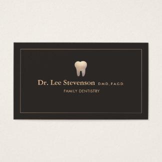 Logotipo do dente do escritório do dentista cartão de visitas