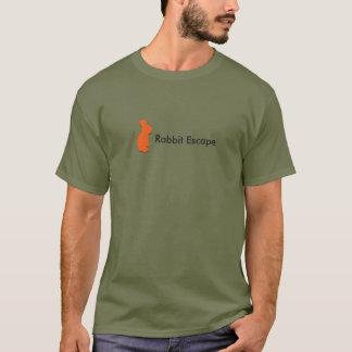 Logotipo do escape do coelho+t-shirt conhecido camiseta