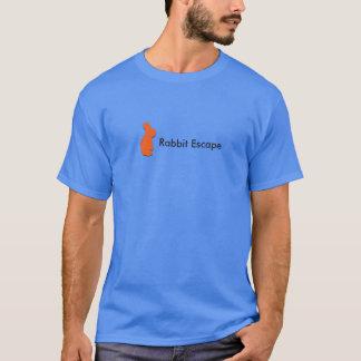 Logotipo do escape do coelho+t-shirt conhecido camisetas