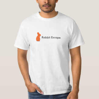 Logotipo do escape do coelho+t-shirt conhecido do camiseta