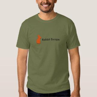 Logotipo do escape do coelho+t-shirt conhecido tshirts