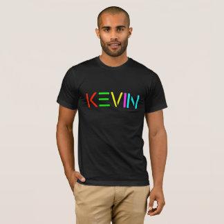 Logotipo do ESPÍRITO de Kevin na camisa preta de T