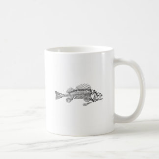 Logotipo do esqueleto dos peixes caneca