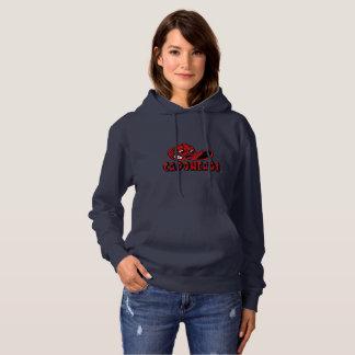 Logotipo do Hoodie w/Red CapoHeads do marinho das Moletom