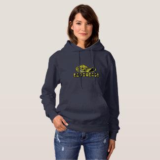 Logotipo do Hoodie w/Yellow CapoHeads do marinho Moletom