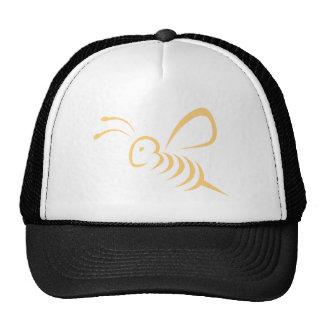 Logotipo do inseto da abelha do vôo bones