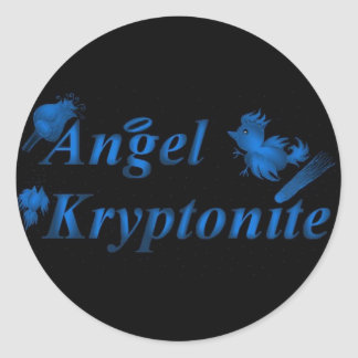 Logotipo do kryptonite do anjo adesivo