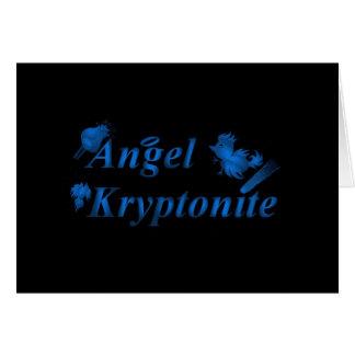 Logotipo do kryptonite do anjo cartão de nota