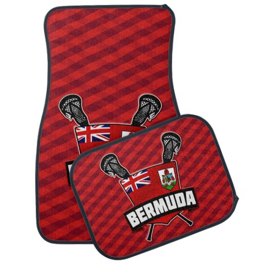 Logotipo do Lacrosse da bandeira de Bermuda Tapete De Carro