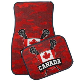 Logotipo do Lacrosse da bandeira de Canadá Tapete Automotivo