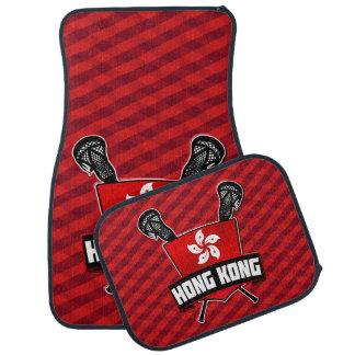 Logotipo do Lacrosse da bandeira de Hong Kong Tapete Para Carro