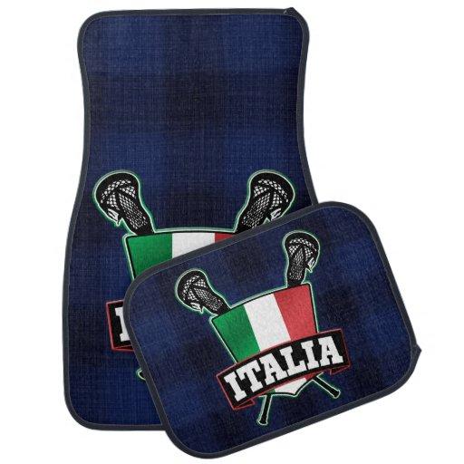 Logotipo do Lacrosse da bandeira de Italia Italia Tapete De Carro