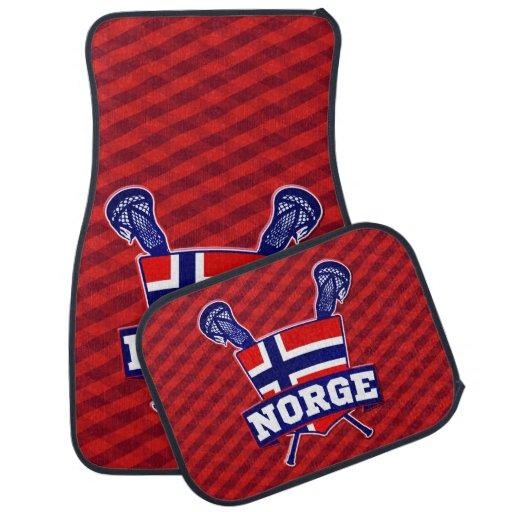 Logotipo do Lacrosse de Norge Noruega Tapete Automotivo
