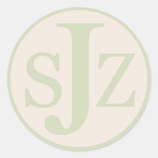Logotipo do monograma do casamento adesivo