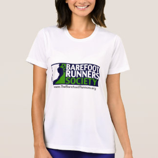 Logotipo do negativo das senhoras Microfiber T+URL Camiseta