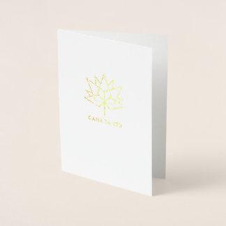 Logotipo do oficial de Canadá 150 Cartão Metalizado