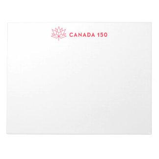 Logotipo do oficial de Canadá 150 - esboço Bloco De Notas