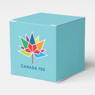 Logotipo do oficial de Canadá 150 - multicolorido Caixinha De Lembrancinhas