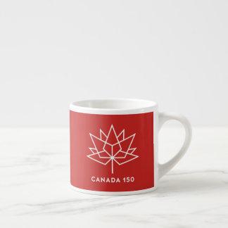 Logotipo do oficial de Canadá 150 - vermelho e Xícara De Espresso