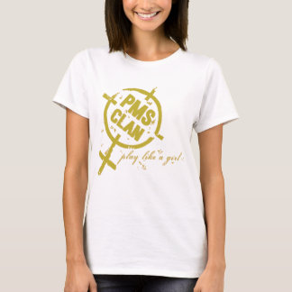 Logotipo do ouro da camisa de PMS