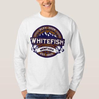 Logotipo do peixe branco vibrante camiseta