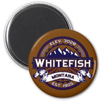 Logotipo do peixe branco vibrante imas