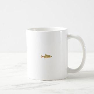 Logotipo do peixe do género Notropis dourado Canecas