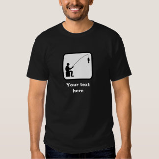 Logotipo do pescador/pescador -- Customizável Tshirts