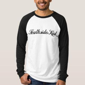 Logotipo do preto da camisa do softball do miúdo