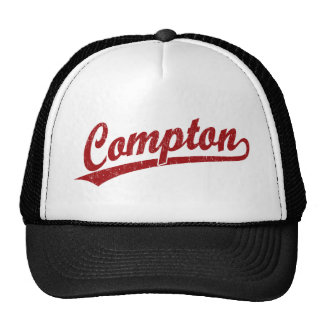 Logotipo do roteiro de Compton no vermelho Boné