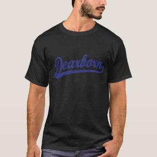 Logotipo do roteiro de Dearborn no azul Camiseta