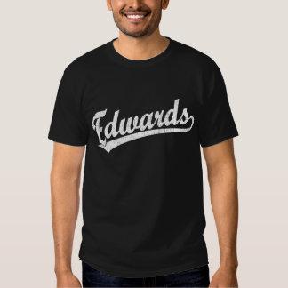 Logotipo do roteiro de Edwards no branco Tshirts