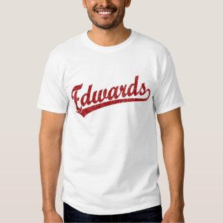 Logotipo do roteiro de Edwards no vermelho T-shirt