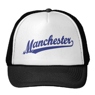 Logotipo do roteiro de Manchester no azul Boné