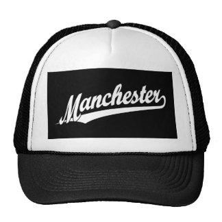 Logotipo do roteiro de Manchester no branco Boné