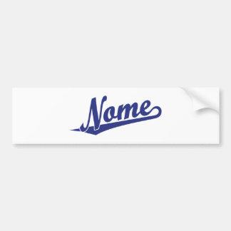 Logotipo do roteiro de Nome no azul Adesivos
