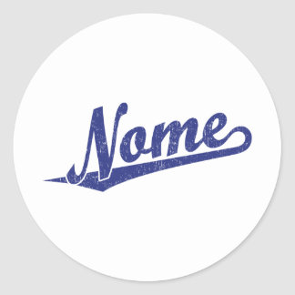 Logotipo do roteiro de Nome no azul afligido Adesivo