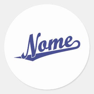 Logotipo do roteiro de Nome no azul Adesivo