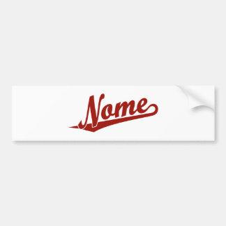 Logotipo do roteiro de Nome no vermelho Adesivo
