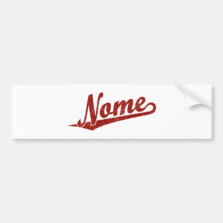 Logotipo do roteiro de Nome no vermelho afligido Adesivos