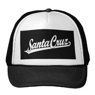 Logotipo do roteiro de Santa Cruz no branco Boné
