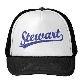 Logotipo do roteiro de Stewart no azul Boné