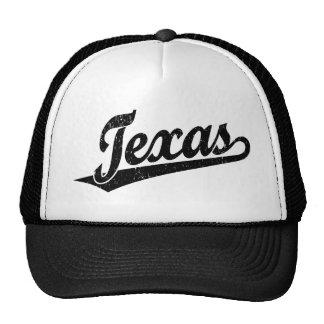 Logotipo do roteiro de Texas no preto afligido Boné