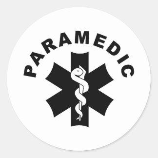 Logotipo do salvamento do EMS do paramédico Adesivo Redondo
