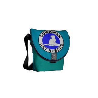 Logotipo do salvamento do gato de Cowichan Bolsa Mensageiro