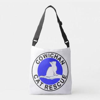 Logotipo do salvamento do gato de Cowichan Bolsas Carteiro