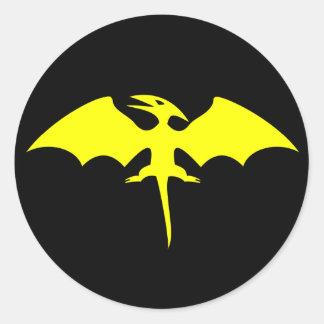 Logotipo do super-herói do dinossauro do adesivo