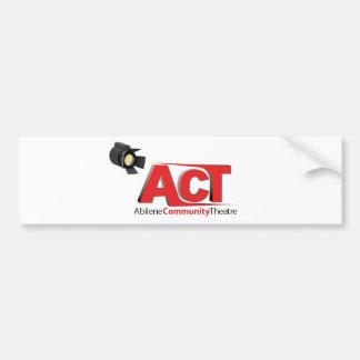 Logotipo do teatro da comunidade de Abilene Adesivo Para Carro
