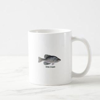Logotipo do tipo de peixe branco (intitulado) caneca